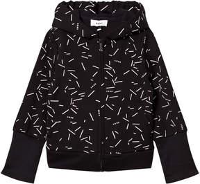 DKNY Black Confetti Print Branded Hoodie