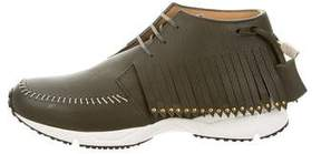 Buscemi Leather Gladiator Sneakers