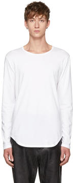 Attachment White Long Sleeve Jersey T-Shirt