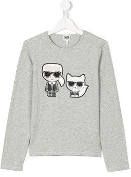 Karl Lagerfeld designer with cat printed top