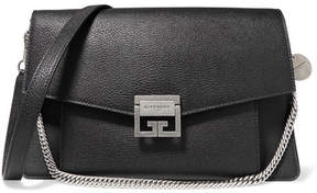 Givenchy Gv3 Medium Textured-leather Shoulder Bag - Black
