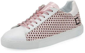D.A.T.E Newman Perforated Leather Sneakers