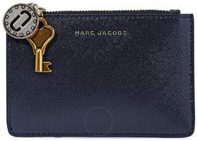 Marc Jacobs Saffiano Leather Wallet- Navy Blue