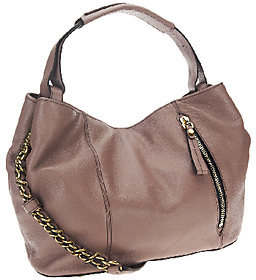 Oryany Italian Leather Satchel with Chain Strap -Bethanie