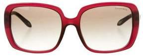 Tiffany & Co. Oversize Jewel-Embellished Sunglasses w/ Tags