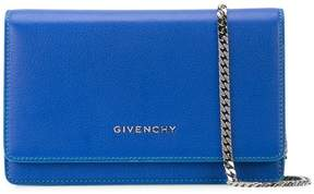 Givenchy logo plaque chain wallet