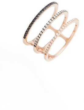 Ef Collection Women's Diamond Triple Fade Stacking Ring