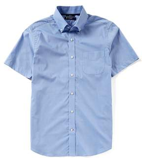 Daniel Cremieux Slim-Fit End-On-End Short-Sleeve Woven Shirt