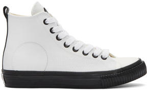 McQ White Swallow Plimsoll High-Top Sneakers