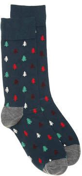 Happy Socks Men's Pine Trees Men's's Crew Socks