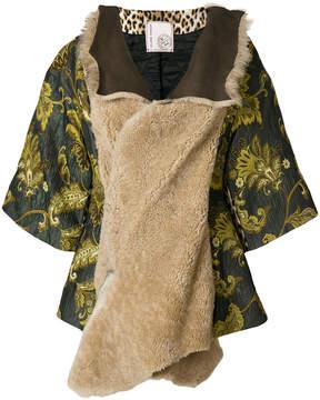 Antonio Marras shearling and brocade jacket
