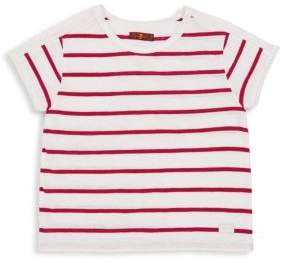 7 For All Mankind Little Girl's, & Girl's Striped Cotton Tee