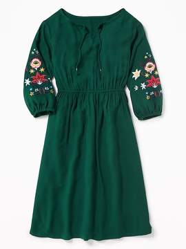 Old Navy Embroidered-Sleeve Midi for Girls