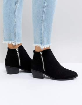Glamorous Black Zip Side Ankle Boots
