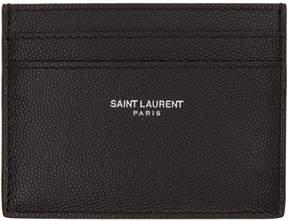 Saint Laurent Black Classic Card Holder