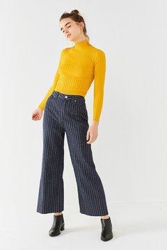 BDG Cropped Denim Culotte – Menswear Stripe