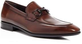Salvatore Ferragamo Men's Dinamo Double Gancini Bit Almond Toe Leather Loafers