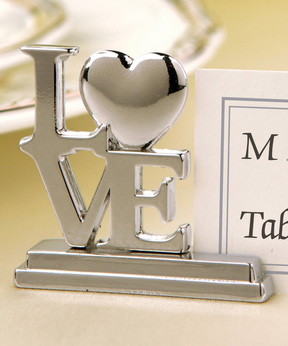 'Love' Place Card Holder - Set of 12