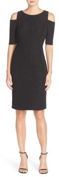 Eliza J Women's Cold Shoulder Sparkle Knit Sheath Dress