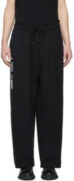 Miharayasuhiro Black Wide Tack Trousers