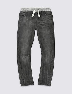 Marks and Spencer Cotton Blend Rib Waist Oleg Jean (3-14 Years)