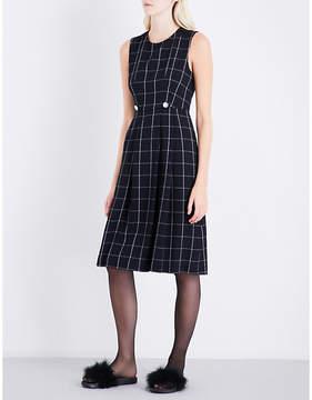 Claudie Pierlot Roseau checked crepe dress