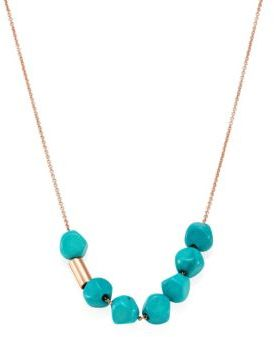 ginette_ny Fallen Sky Turquoise & 18K Rose Gold Necklace