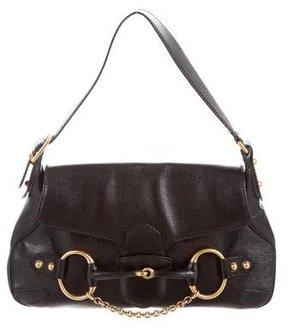 Gucci Horsebit Chain Medium Shoulder Bag - BLACK - STYLE