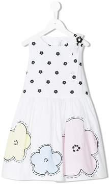 Simonetta floral print sleeveless dress
