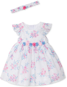 Little Me Whimsical Floral-Print Dress & Diaper Cover Set, Baby Girls