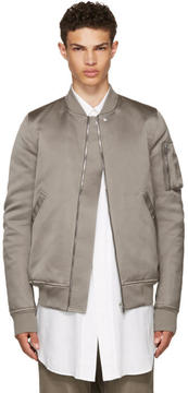 Rick Owens Grey Down Flight Bomber Jacket
