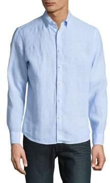 Black & Brown Black Brown Striped Linen Casual Button-Down Shirt
