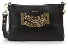 Mario Valentino Vanille Chain Leather Crossbody Bag