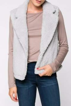 Everly Silver Fleece Vest
