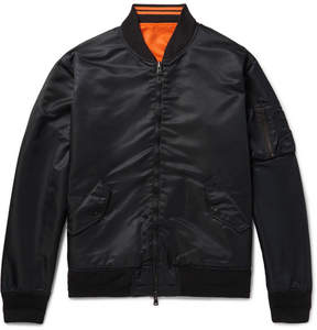 Beams Reversible Appliquéd Nylon Bomber Jacket