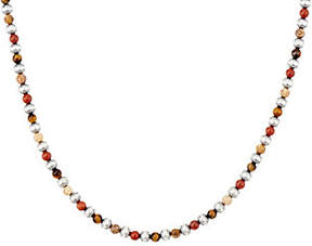 American West Sterling & Gemstone 17 BeadNecklace