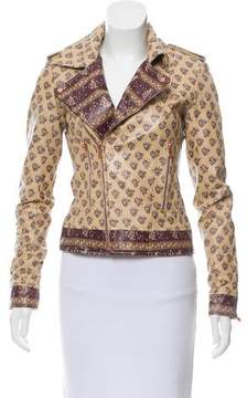 Calypso Printed Leather Jacket