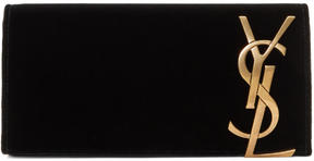 Saint Laurent Black Velvet Smoking Clutch