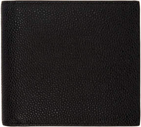 Thom Browne Black Leather Bifold Wallet