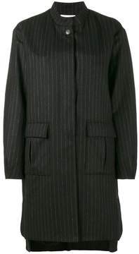 Lot 78 Lot78 pinstripe cocoon coat