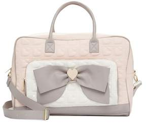 Betsey Johnson Quilted Bow Weekend Bag
