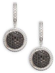 Alor Diamond, 18K White Gold & Stainless Steel Drop Earrings