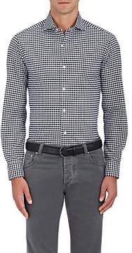 Barba Men's Gingham Piqué Cotton Shirt