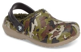 Crocs Toddler Boy's TM) Classic Fuzz Lined Graphic Clog