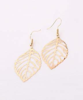 Azalea Goldtone Leaf Drop Earrings