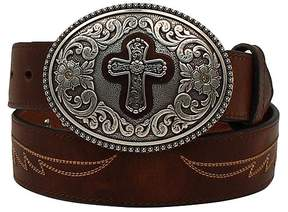 Ariat Brown Cross Leather Belt