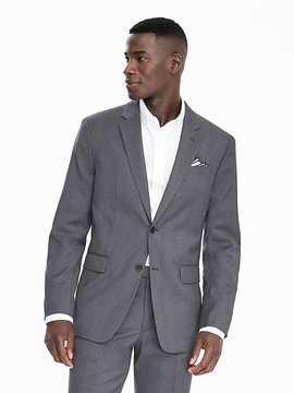 Banana Republic Standard Grey Camel Plaid Wool Suit Jacket