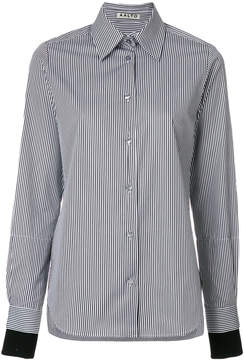 Aalto striped contrast cuff shirt