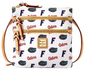 Dooney & Bourke NCAA Florida Triple Zip Crossbody Shoulder Bag - WHITE - STYLE