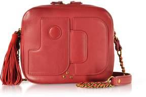 Jerome Dreyfuss Pascal Lipstick Red Leather Shoulder Bag